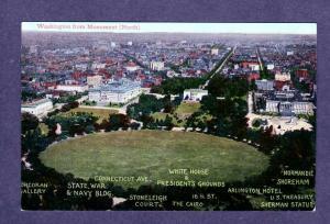 DC View White House President's Grounds Arlington Hotel Washington DC Postcard