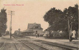 WARSAW , Indiana , PU-1908 ; Pennsylvania Railroad Train Station