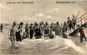 CPA Rügen. Ostseebad Binz. Familienbade. GERMANY (663172)
