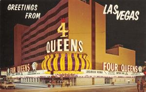 Las Vegas NV Greetings From Four Queens Casino~Sunny Spencer~Neon Lights 1960s