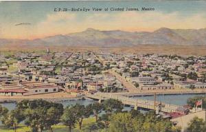Bird's-Eye view of Ciudad Juarez, Mexico,  PU-30-40s