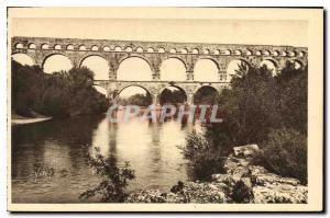 Old Postcard Nimes Gard Pont du Gard