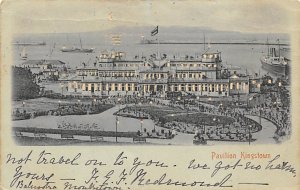 Pavilion Kingstown Hold to Light Postal Used Unknown writing on front