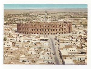 Tunisia El Djem Colosseum Roman Amphitheater Ruins Vtg Postcard 4X6