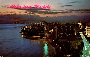 Hawaii Aloha From Waikiki At Sunset