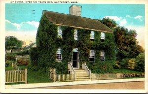 Massachusetts Nantucket Ivy Lodge Over 140 Years Old 1929