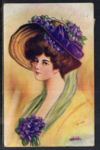 Woman Wearing Purple Hat,Reynolds