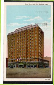 DES MOINES, Iowa, PU-1946; Hotel Kirkwood