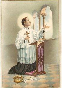 San Luis Gonzaga Nice vintage Spanish religious postcard