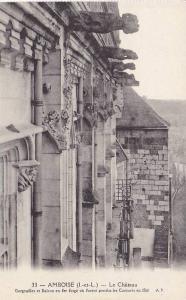 AMBOISE, Le Chateau, Gargouilles et Balcon, Indre et Loire, France, 00-10s