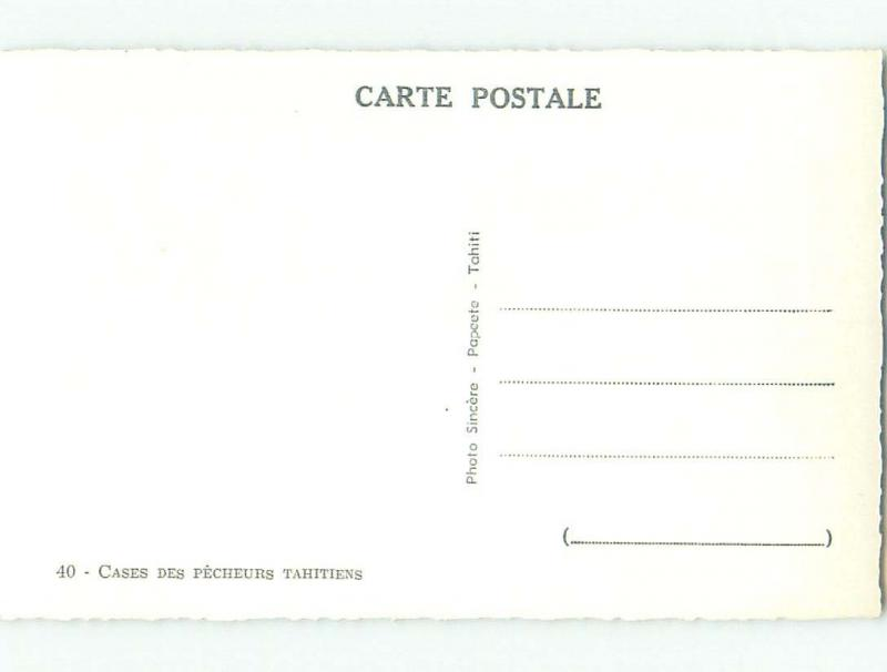 old rppc BOXES OF FISHERMEN Country Of Tahiti i1811