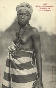 CPA Senegal Ethnic Nude Fortier - 1365. Étude N 44 Fille Soussou (70960)