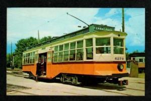 MA  Trolley Car BOSTON MASSACHUSETTS MASS Postcard