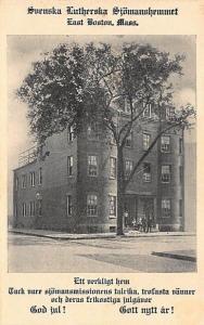 East Boston MA Suenska Lutherska Siomanshemmet Building Postcard