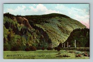 White Mountains NH-New Hampshire Elephants Head, Crawford Notch Vintage Postcard