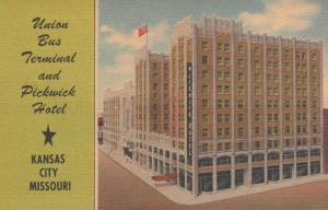 Union Bus Terminal and Pickwick Hotel - Kansas City MO, Missouri - Linen