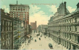 Heart of Cincinnati No. 15 Business Center View, Peebles Sign, 1912 Postcard