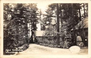 Chain O Lakes-Waupaca Wisconsin~Whispering Pines Cabins/Drive~Marl Lake~30s RPPC