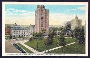 Harrisburger Hotel Harrisburg PA unused c1930's