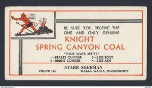 Walla Walla Washington USA Knight Spring Canyon Coal - red devil  BLOTTER