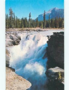 Unused Pre-1980 WATERFALL Athabasca Falls - Near Lake Louise Alberta AB E4242