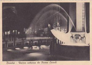 Visione Notturna Da Piazza Cairoli, Brindisi (Puglia), Italy, 1910-1920s