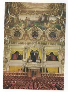 Monaco Monte Carlo La Salle Garnier Opera House Interior Vtg 4X6 Postcard