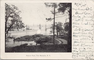 Hudson Park New Rochelle NY New York c1905 Postcard G65