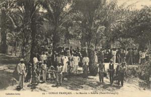 CPA Francais Congo Afrique - Le Marché á Bolobo (86540)