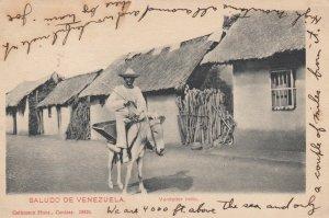 Saludo De Venezuela , 00-10s ; Vendedor indio on donkey