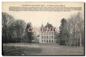 Old Postcard Champigny sur Yonne Yonne Chateau shooting of the East