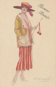 BOMPARD ; Art Deco Female Portrait  , 1910s #4