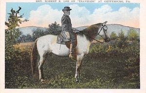 Civil War Post Cards Robert E Lee on traveler At Gettysburg, PA, USA Unused