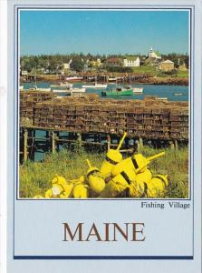 Maine Corea Fishing Village On Northern Coast Showing Lobster Traps