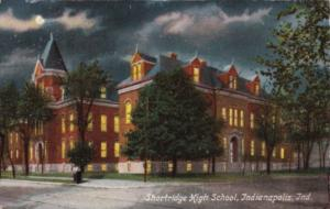Indiana Indianapolis Shortridge High School At Night