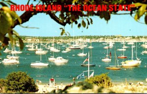 Rhode Island Newport Harbor Seen From Fort Adams State Park