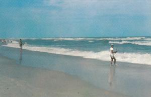 OCEAN DRIVE, South Carolina, 1940-1960's; Surf Fishing