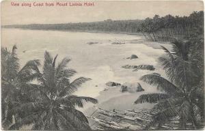 Ceylon View along coast mount lavinia hotel 01.27