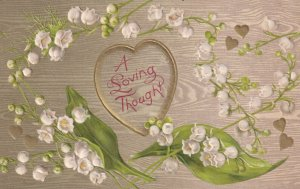 AS: VALENTINE'S DAY, PU-1913; A Loving Tought, Lily Bells, Gold Hearts; WINSCH