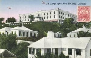bermuda, St. GEORGES, Hotel from the Road (1930) Stamp