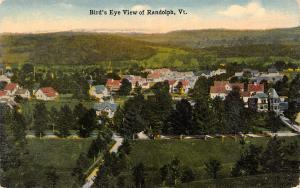 Randolph Vermont~Birdseye Facing SSW~Housing Developments~Mountain Range c1908