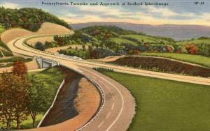 PA - Pennsylvania Turnpike, Approach to Bedford Exchange