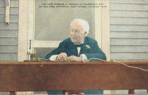 USA Florida Fort Myers The Late Thomas A Edison at Telegraph Key 04.33