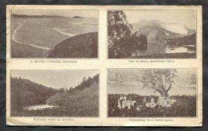 dc07 - Touring BRITISH COLUMBIA 1920 Province Tourist ADVERTISING Postcard