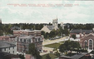 BELLEVILLE, Ontario, 1900-10s; Armouries, Post Office, Quinte Hotel, Bridge St.