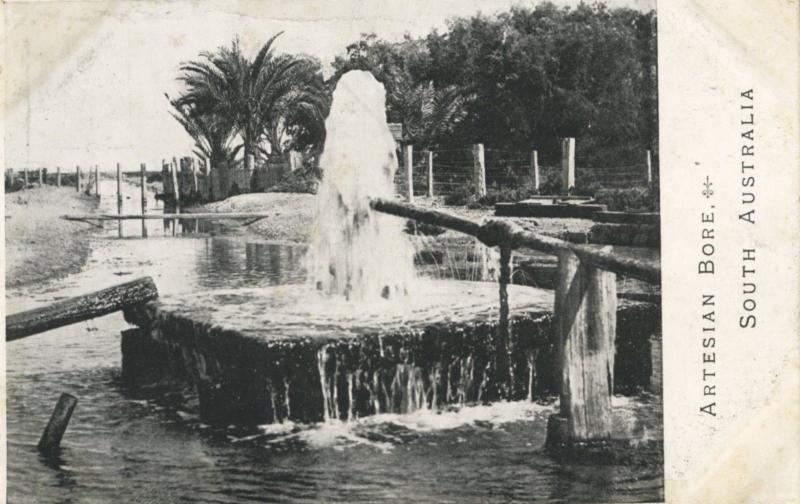 Artesian Bore South Australia AU Great Artesian Basin Unused Postcard E4