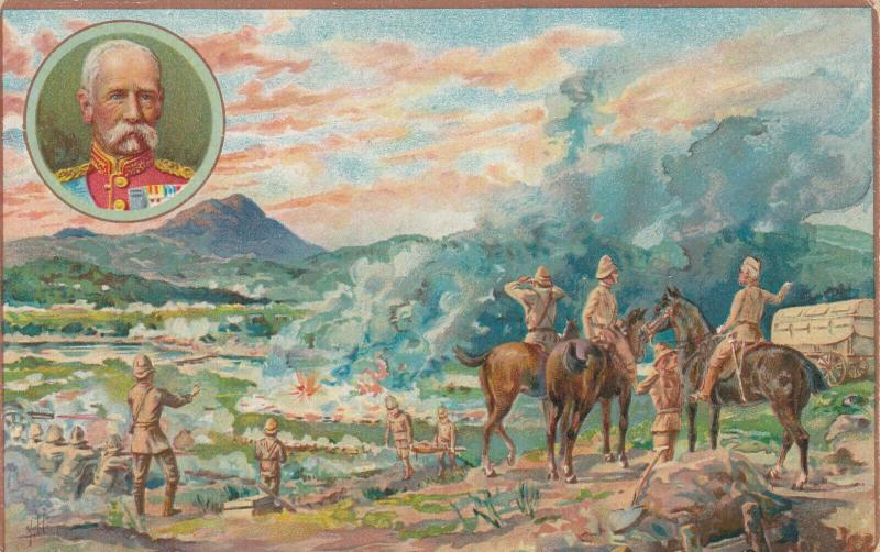 SOUTH AFRICA, 1900, Battle of Paardeberg, ADV for Price's Oil on back