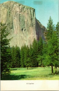 Vtg Postcard 1940s Linen Postcard El Capitan Yosemite National Park CA Unused