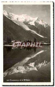 Old Postcard Chamonix and Mont Blanc