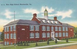 New High School Martinsville Virginia